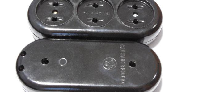 РПА16-001 Колодка карболитовая для удлинителя на 3 гнезда.   Серия PIV