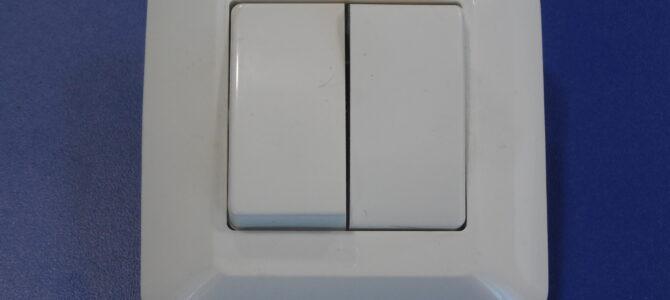 Выключатель 2х клавишный для скрытой проводки